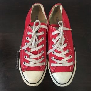 Converse- Classic Red Sneakers Size 6 Men's/ 8 Wms